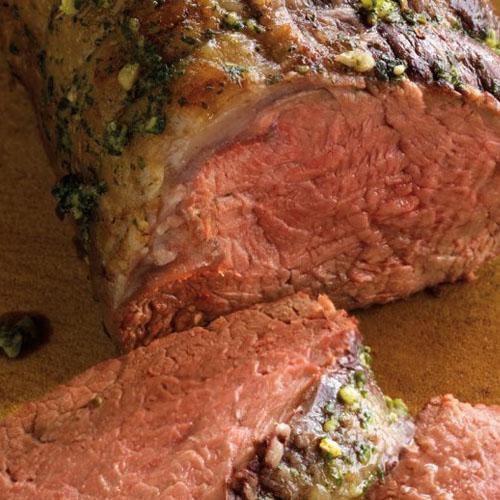 beef tenderloin with pesto sauce