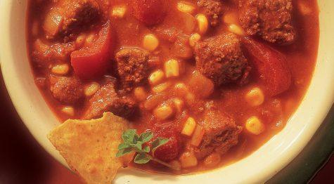 Chunky Beef and Corn Chili