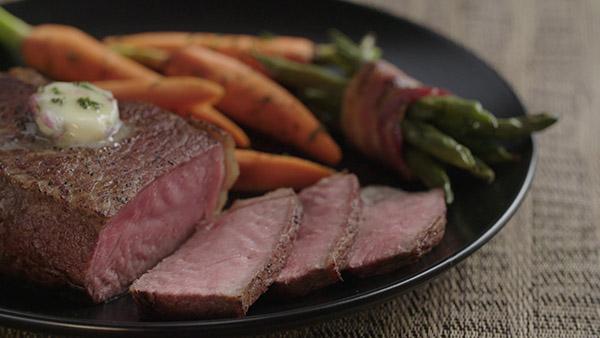 steak strips with bernaise
