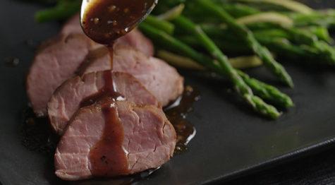 tropical glazed pork tenderloin
