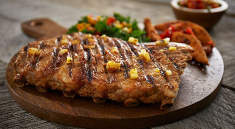 Grilled Pineapple and Sriracha St. Louis Style Ribs