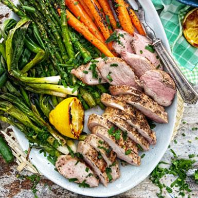 Grilled Pork Tenderloin and Vegetables