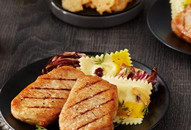grilled thin cut pork chops