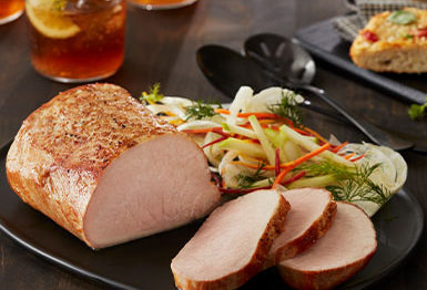 Pork roast with shaved fennel